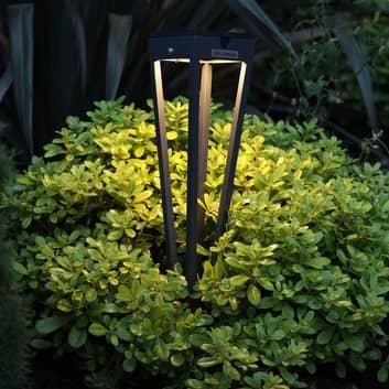 Fiaccola LED solare Tinka con picchetto alta 52 cm