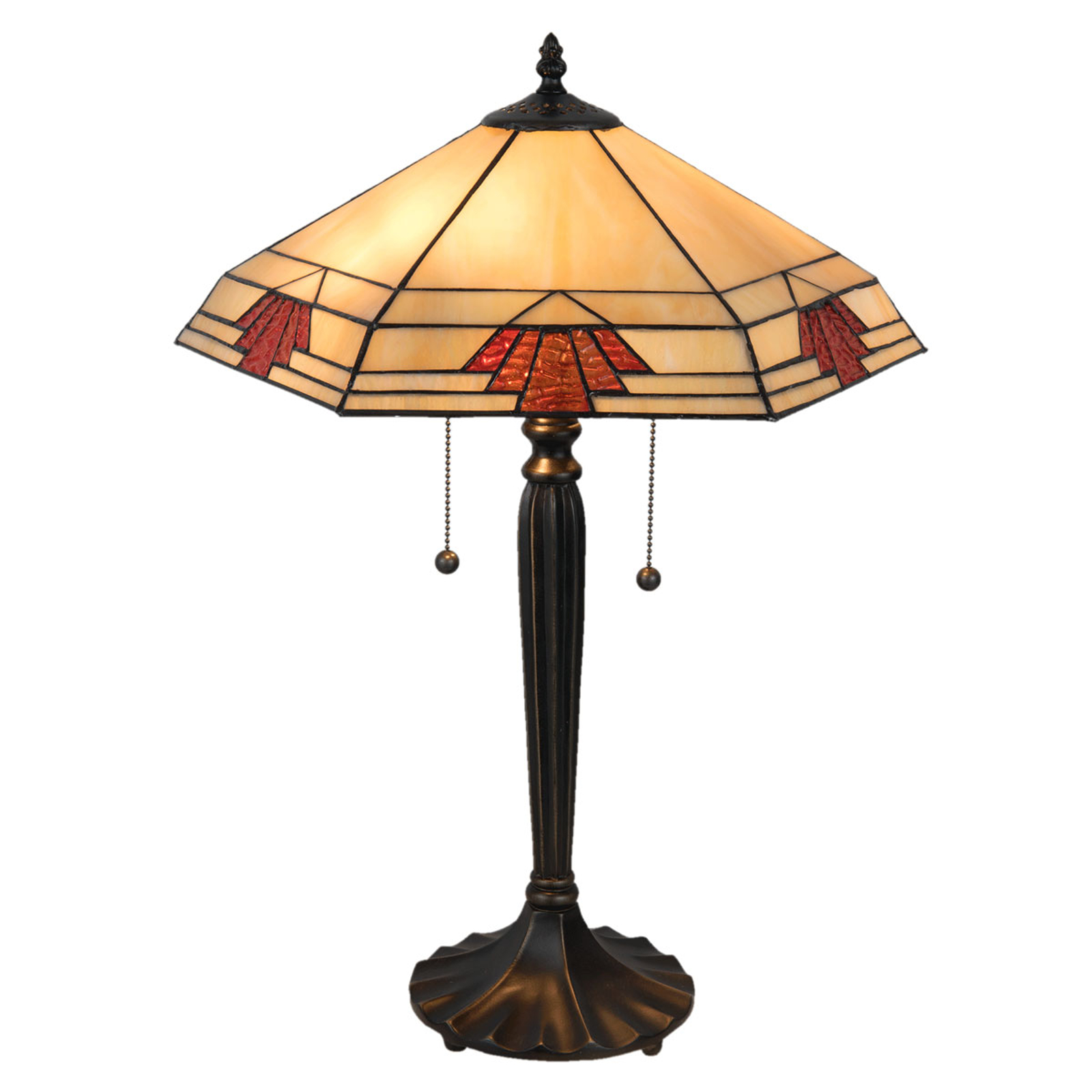 Lampe à poser 5202 au style Tiffany, 44x38cm