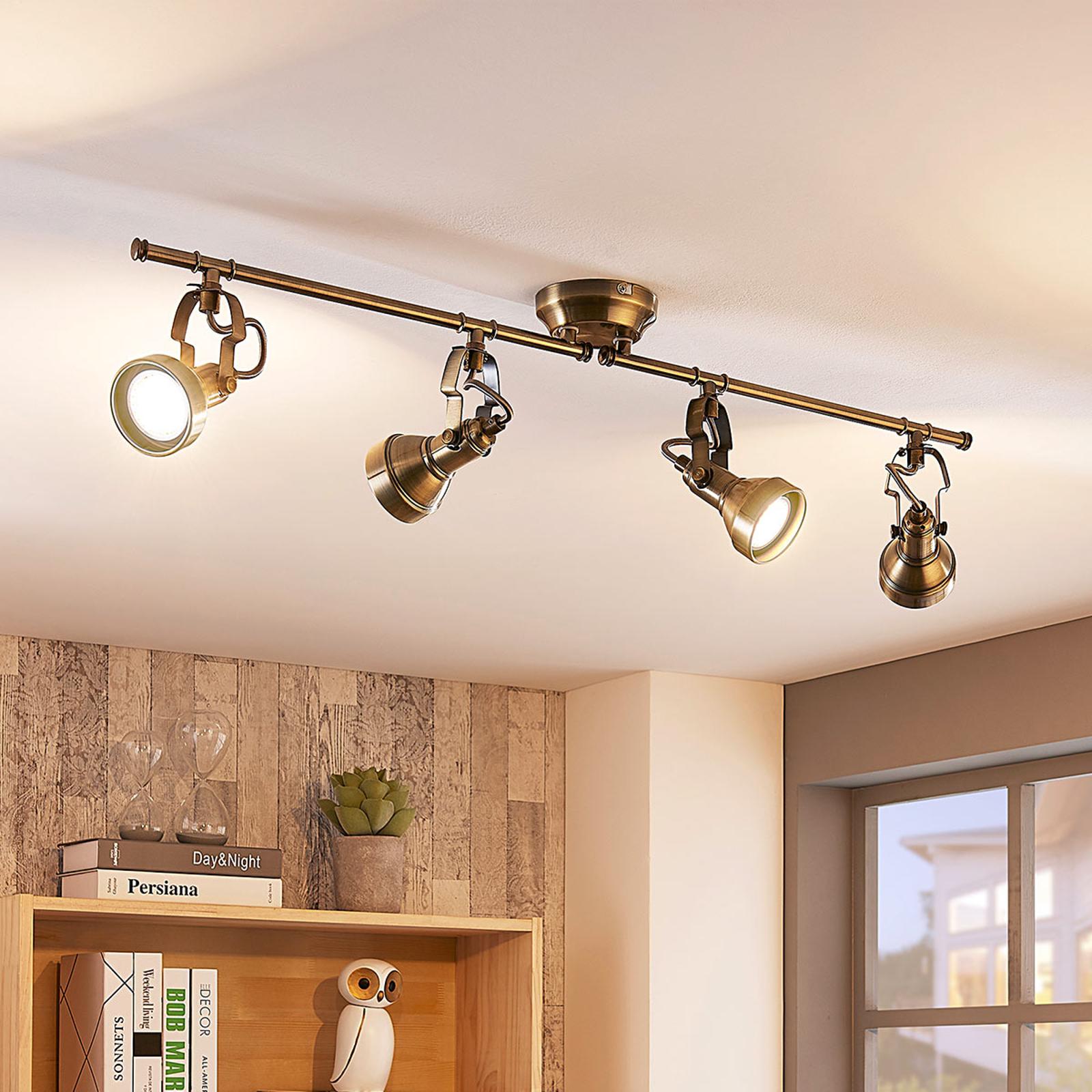 Podłużna lampa sufitowa PERSEAS, LED GU10