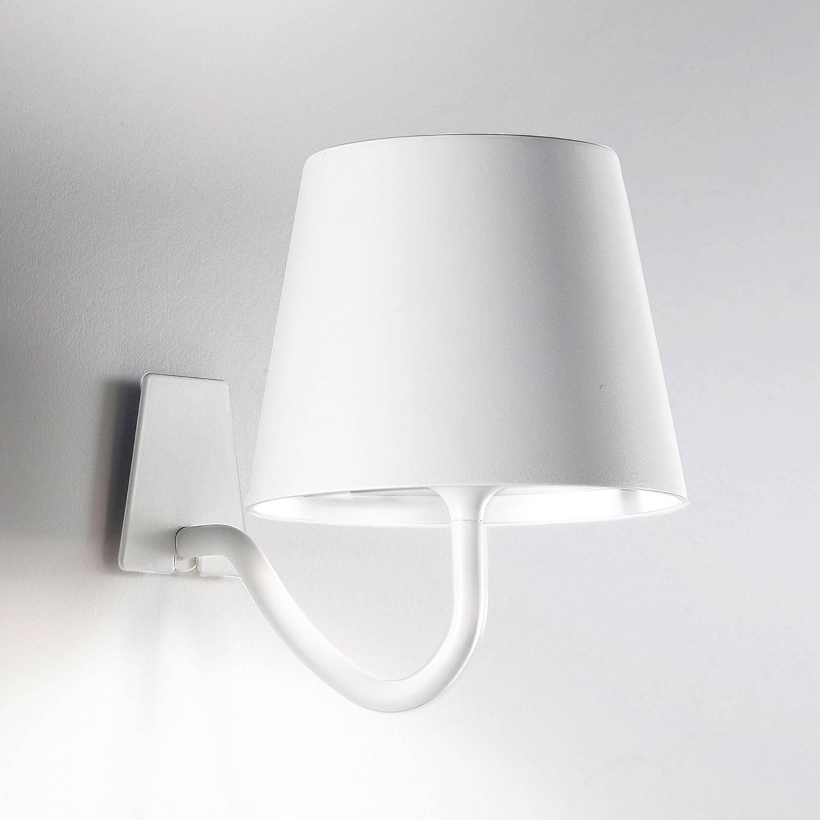 LED-Wandleuchte Poldina dimmbar, mit Akku, weiß