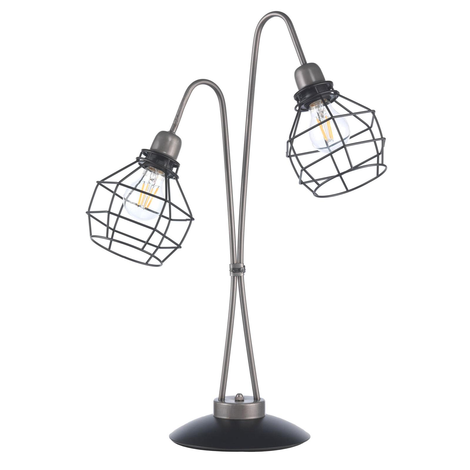 Bordlampe Grid med to gitterskjermer