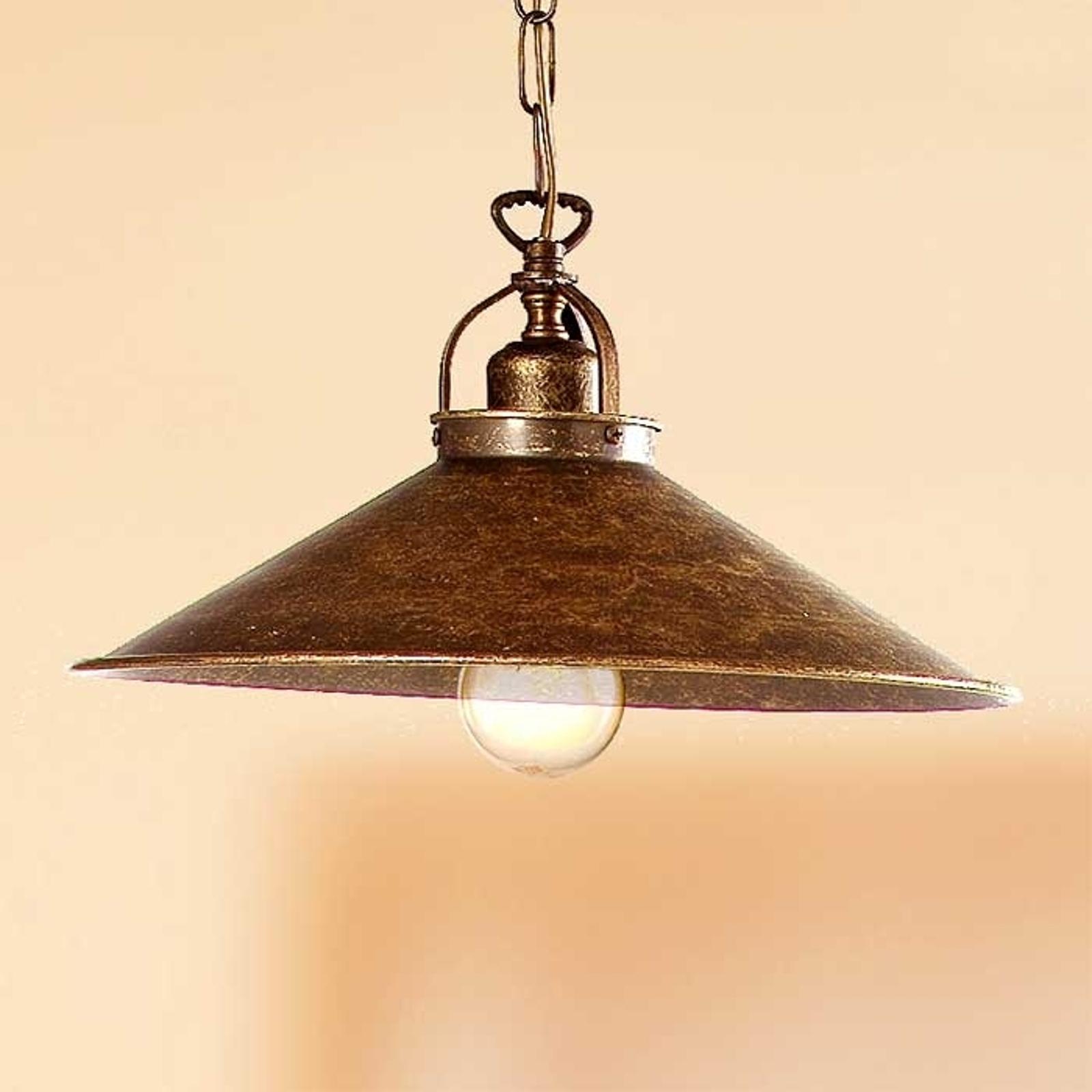 Rustieke hanglamp BRUNO, 35 cm
