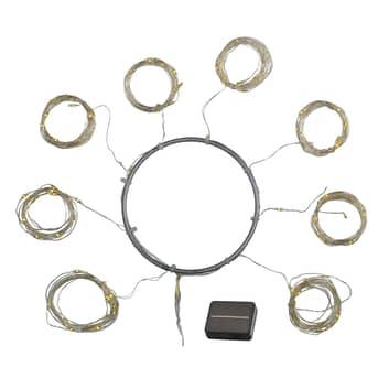 LED solární řetěz Knirke Solar Parasol 8 x 2 m