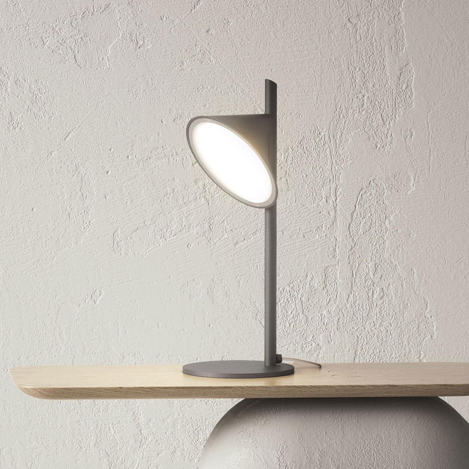 Axolight Orchid LED tafellamp, donkergrijs