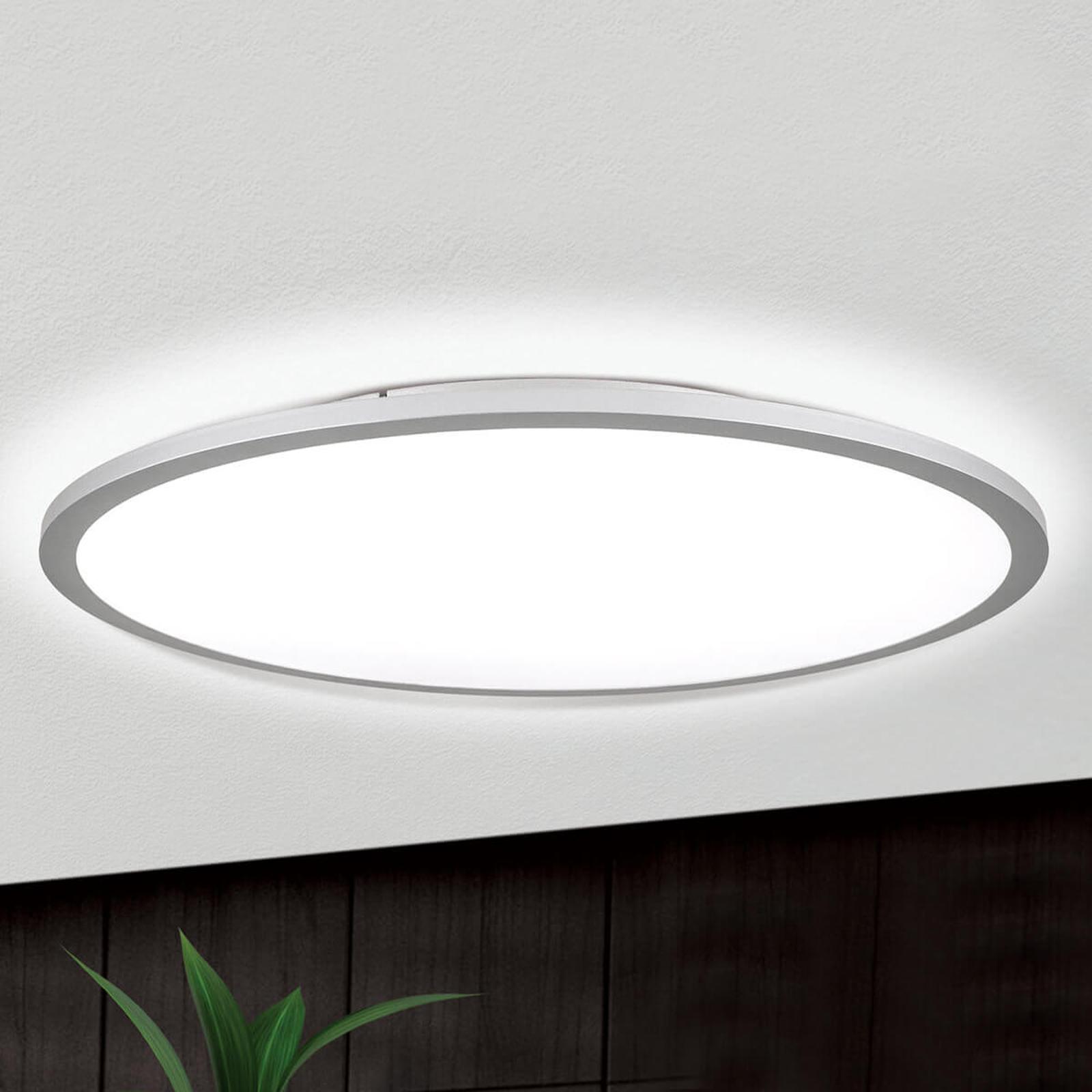 Titanfarbene LED-Deckenlampe Aria, dimmbar - 60 cm