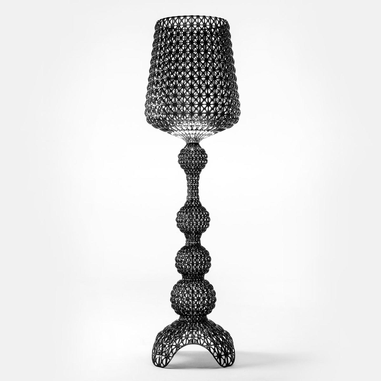 Lampadaire de designer Kabuki avec LED, noir