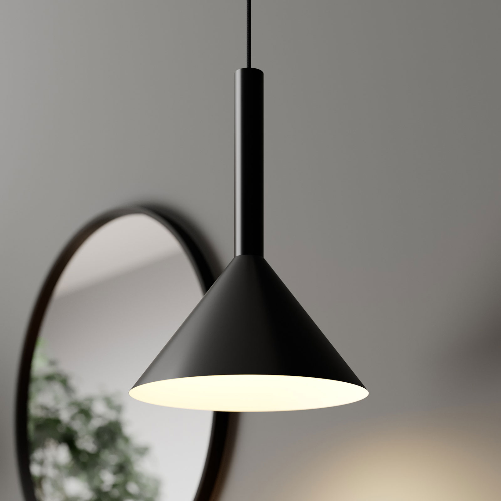 Arcchio Tadej Pendellampe 1-fl. 30 cm schwarz-weiß