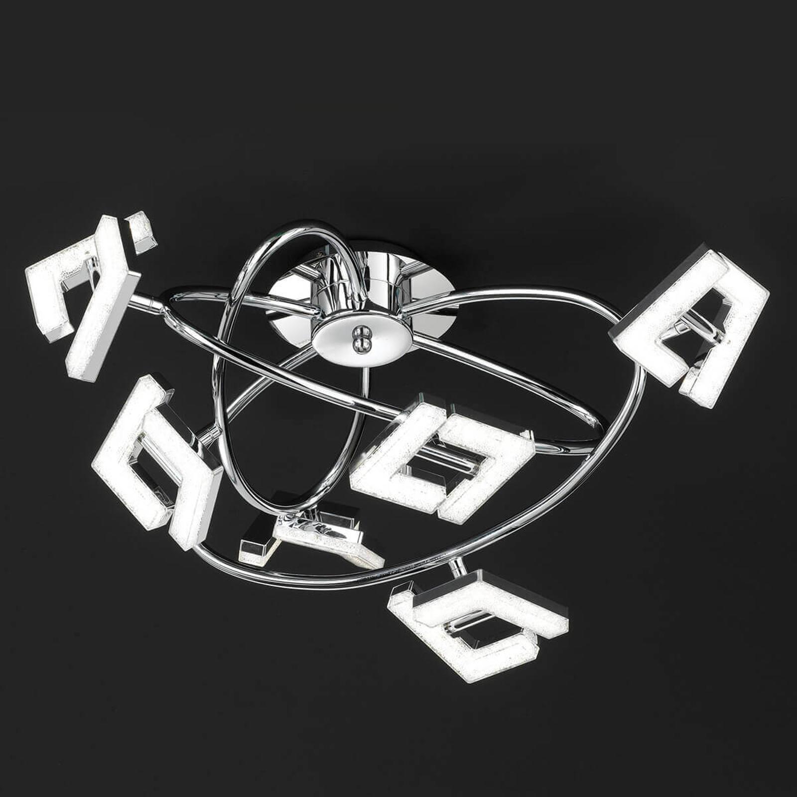 Modernissima plafoniera LED Lea a 6 luci