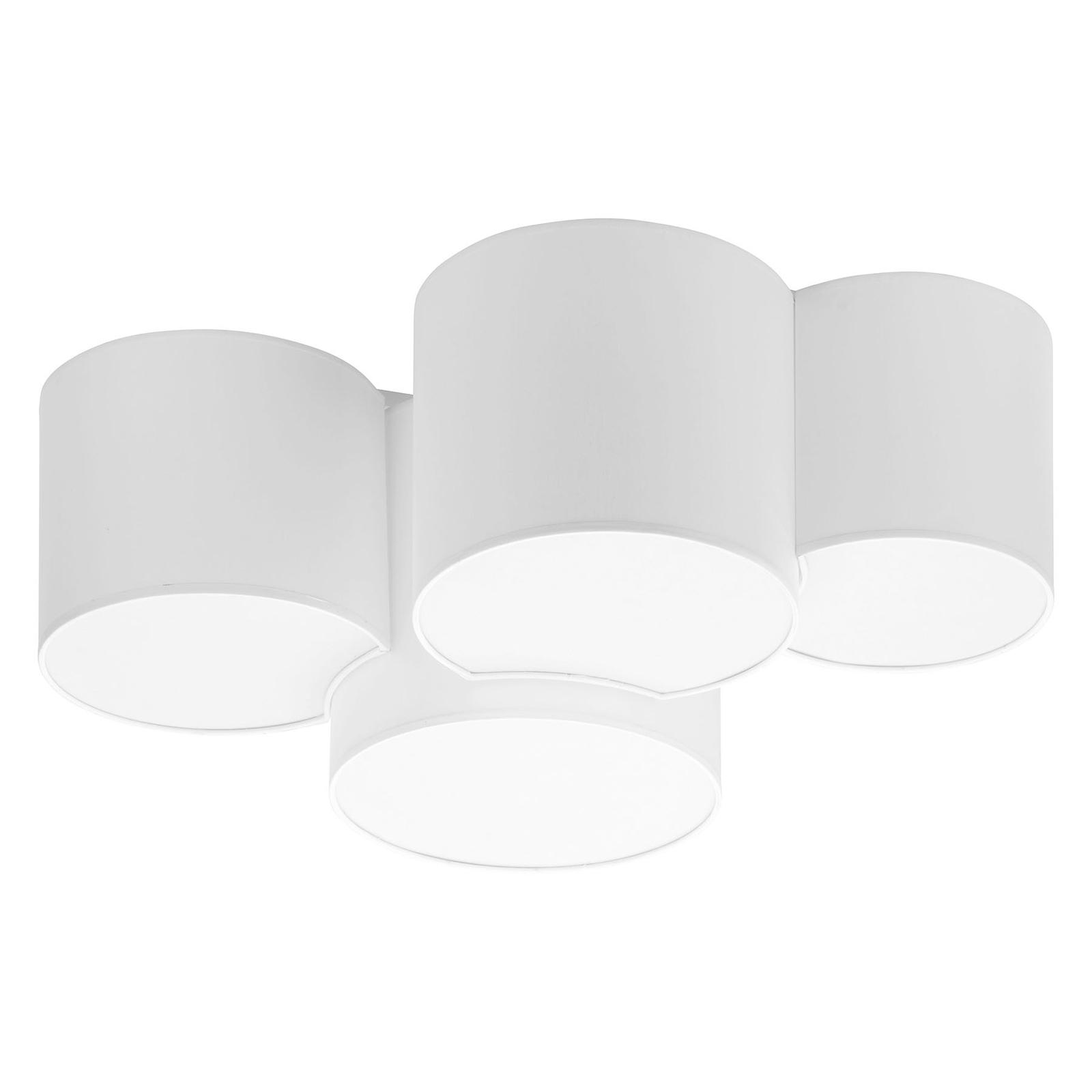 Lampa sufitowa Mona, 4-punktowa, biała
