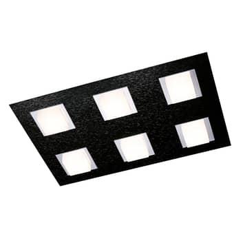 GROSSMANN Basic plafondlamp 6-lamps zwart