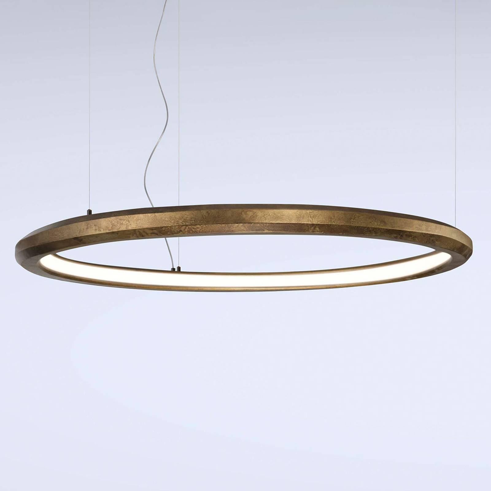 LED hanglamp Materica binnen Ø 120 cm messing