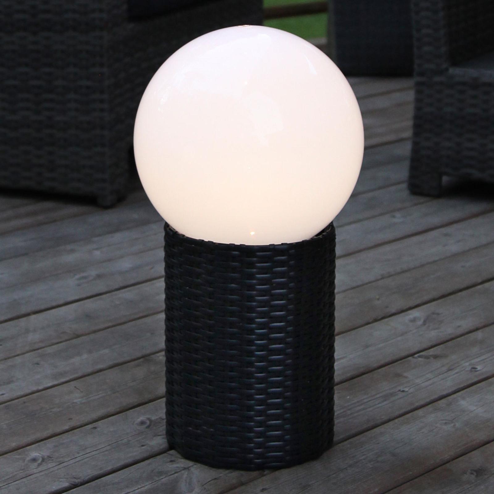 LED-Solar-Kugel Lug mit Sockel, Ø 25 cm