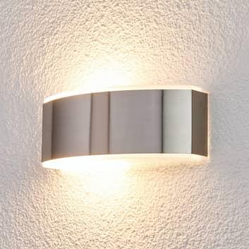 Elegante lámpara pared Pacon acero inox exteriores