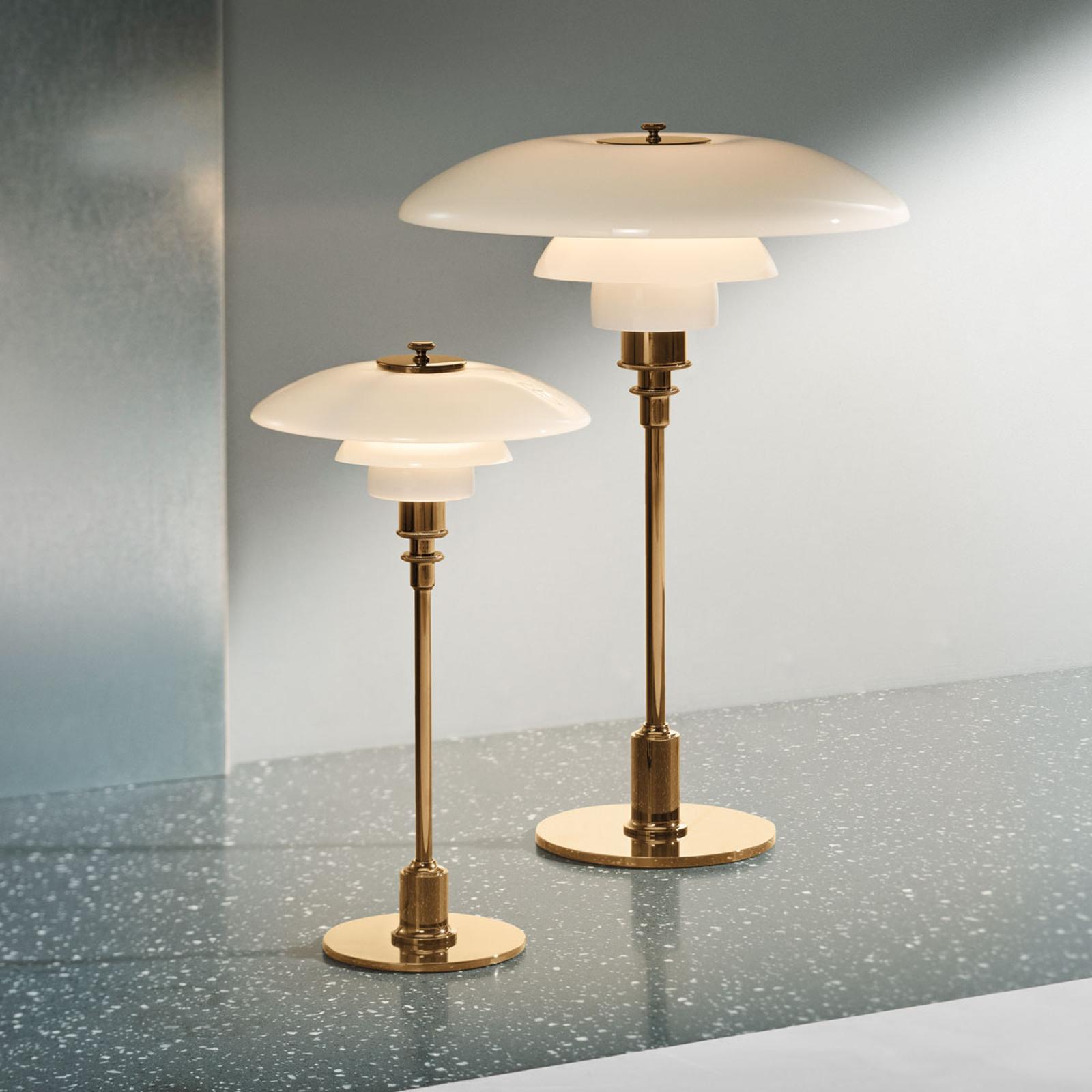Louis Poulsen PH 2/1 bordlampe messing-hvit