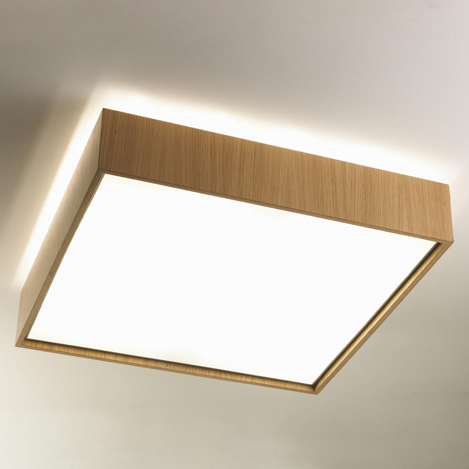 Taklampe Quadrat C med LED 60 x 60, eik