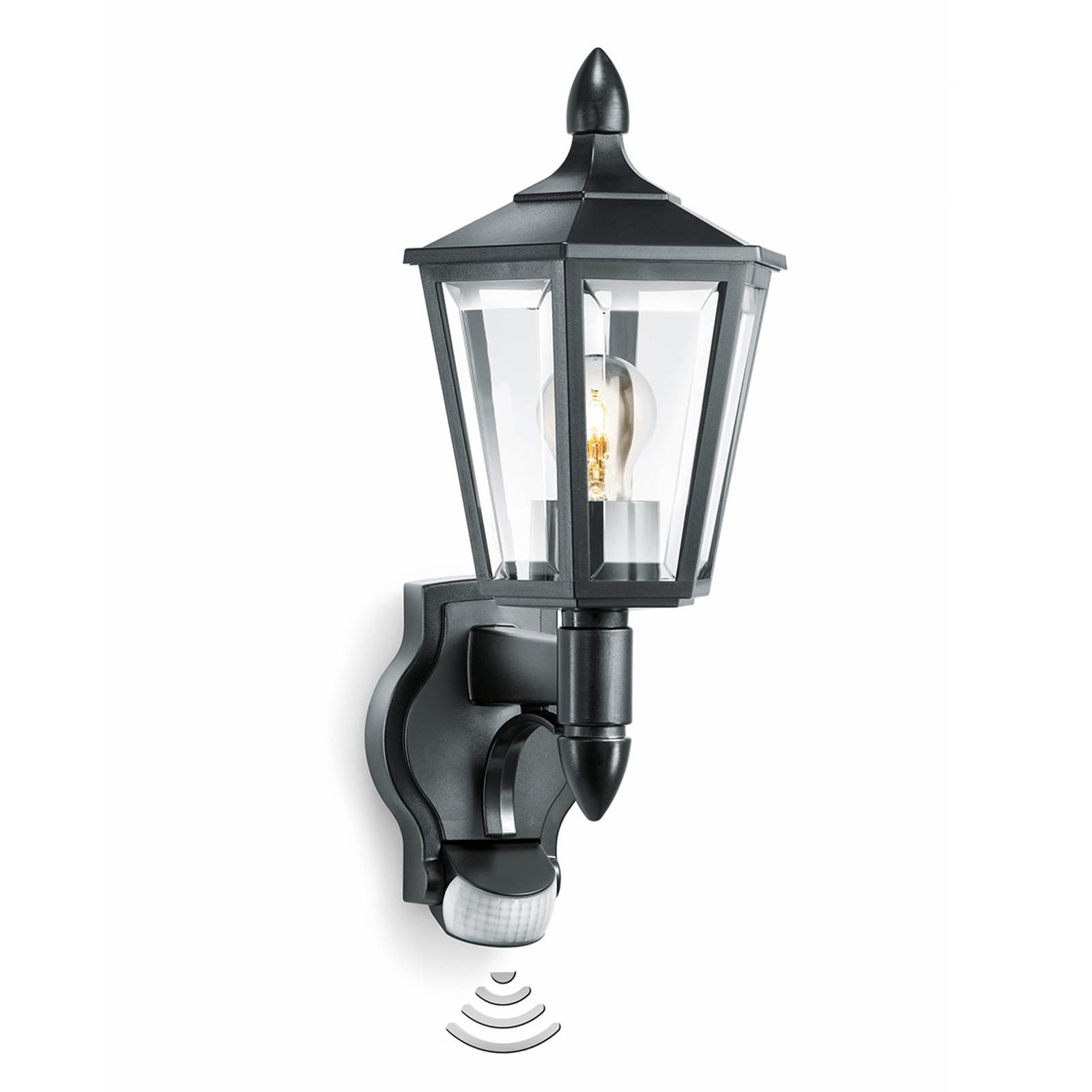 STEINEL L15-sensor utendørs vegglampe svart