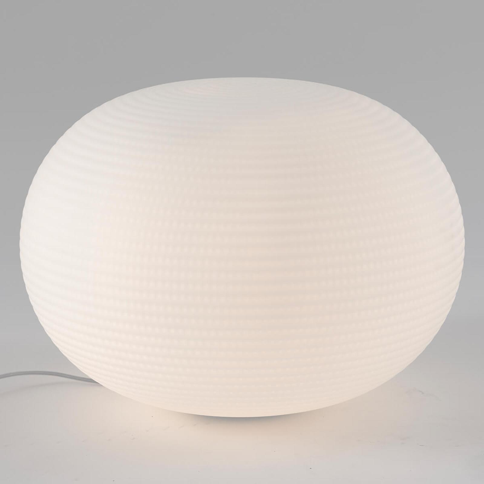 Designerska lampa stołowa Bianca ze szkła, 50 cm
