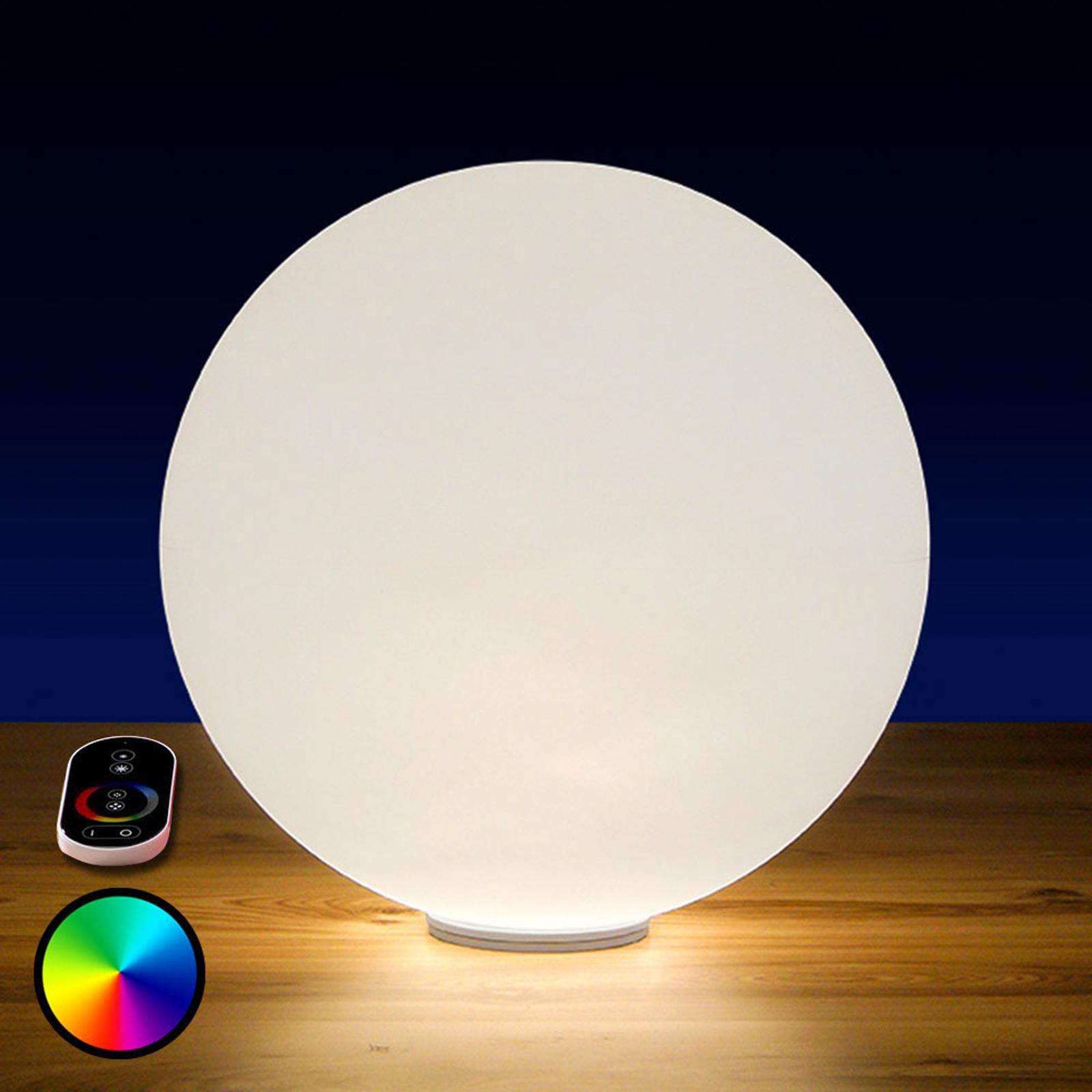 Utendørs LED-kule Snowball med batteri, RGB, 30 cm