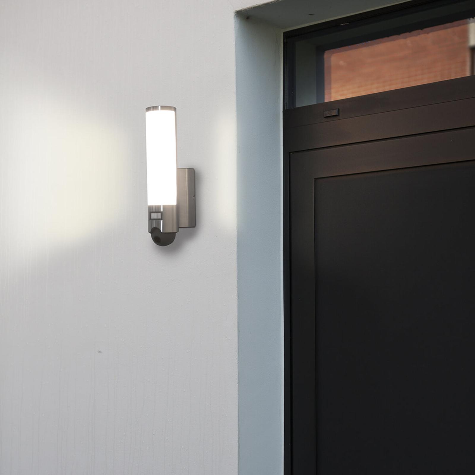 Inbyggd kamera - LED-utomhusvägglampa Elara Cam