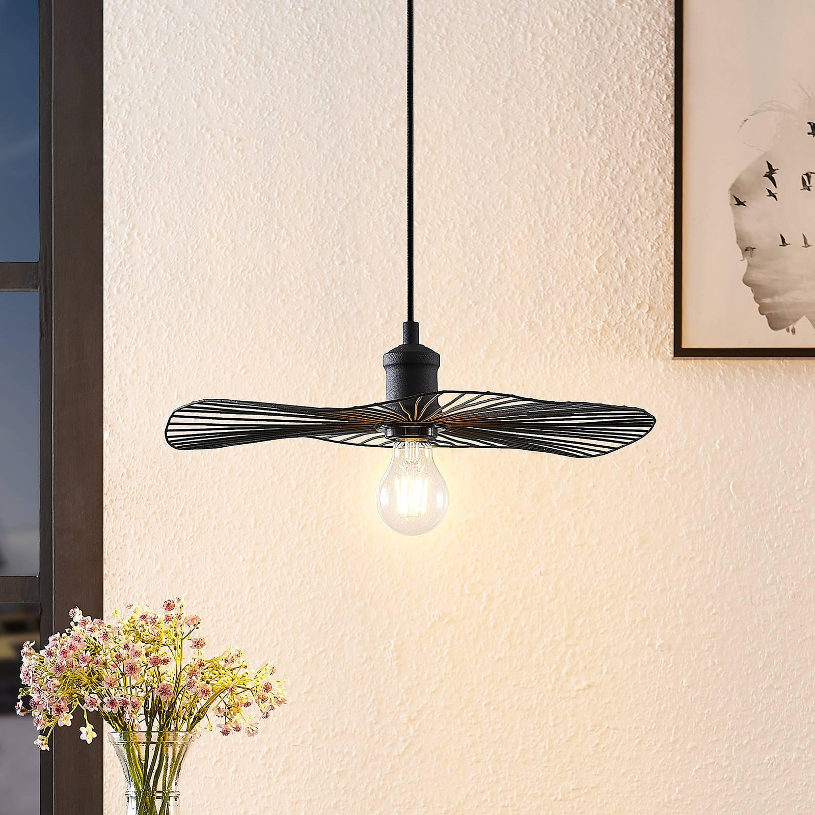 Lindby Ruota lampa wisząca czarna