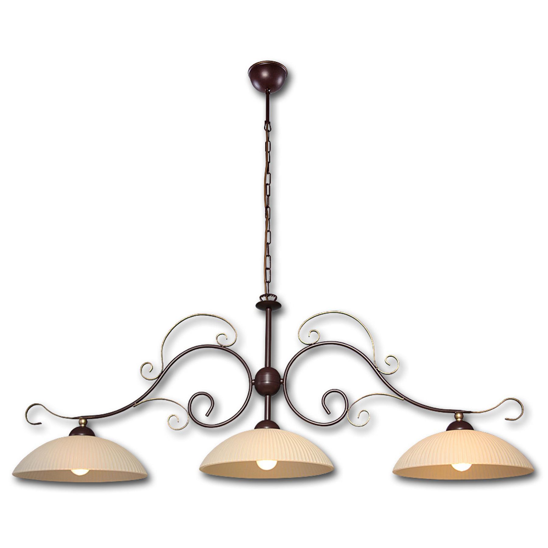 Lampa wisząca Idella, 3-punktowa