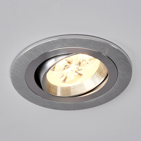 Rund LED-monteringslampe Tjark i aluminium