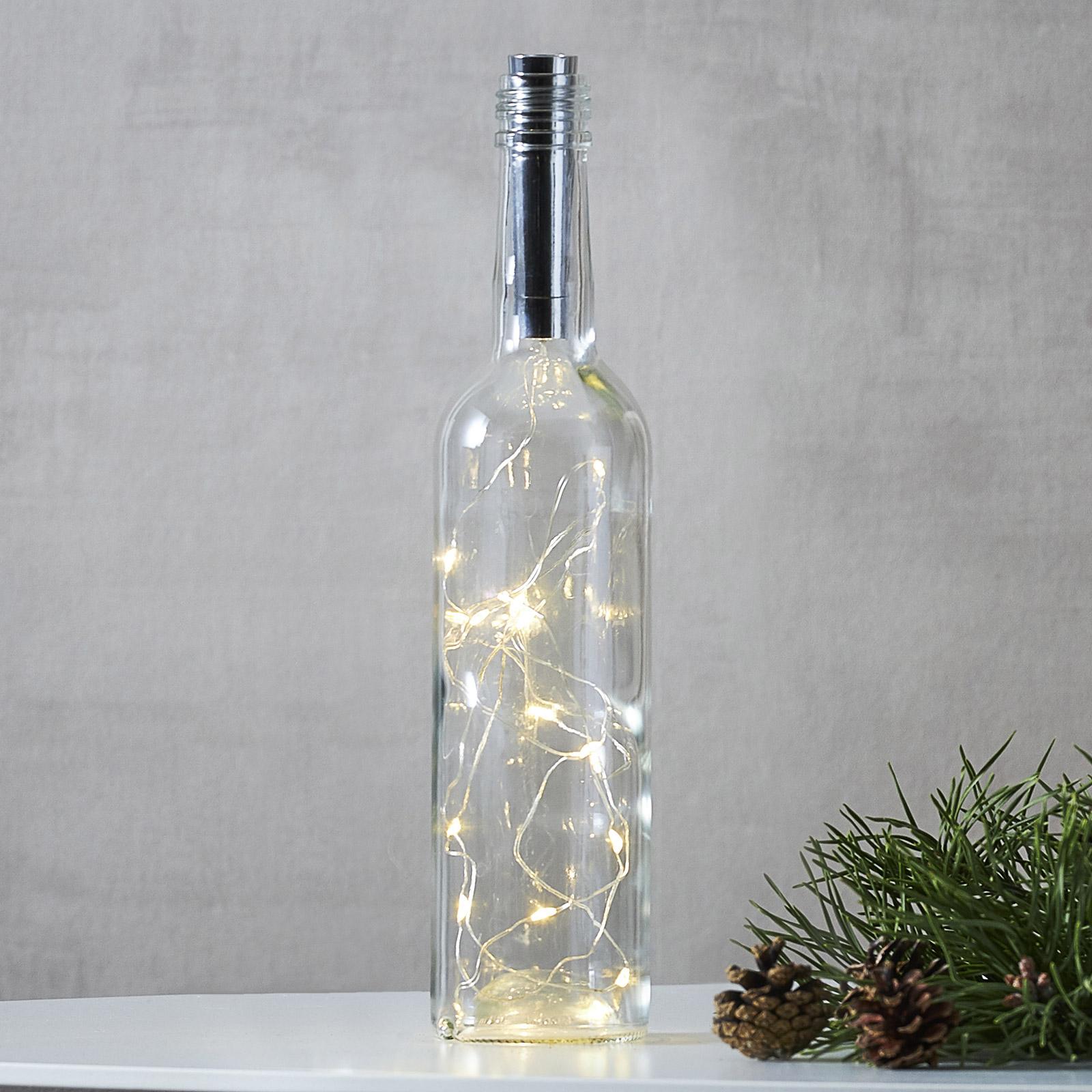 Ljusslinga för flaska Dew Drops 75 cm, silver