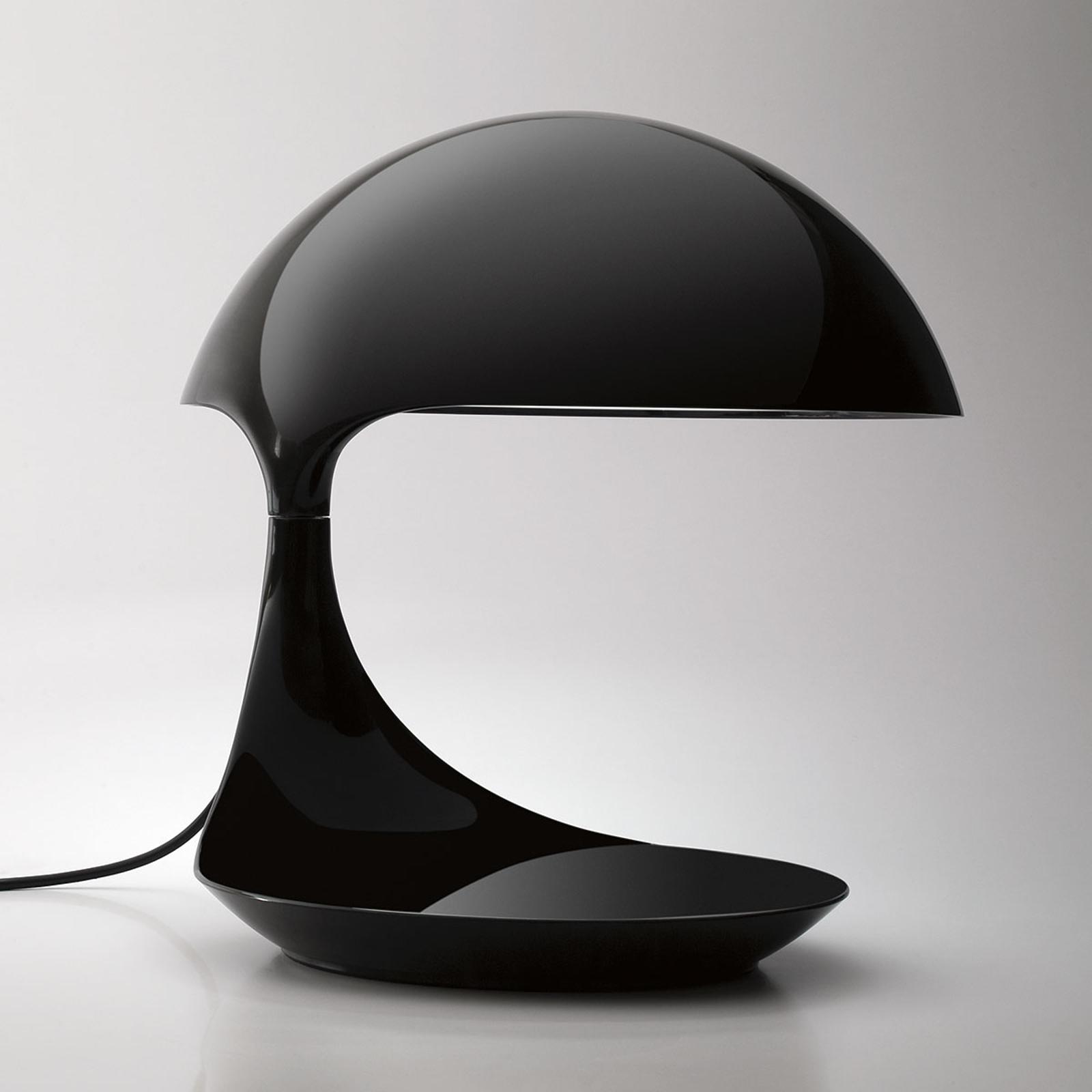 Martinelli Luce Cobra da tavolo retrò nero