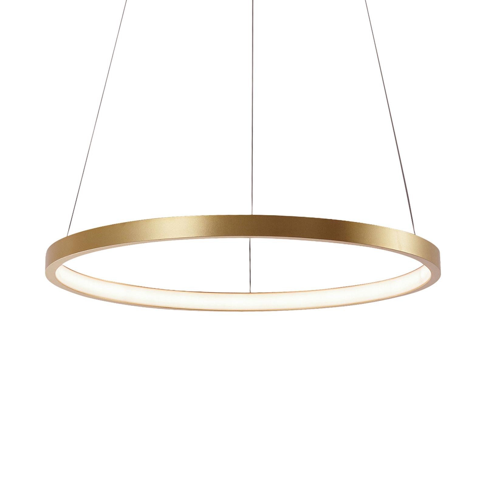 Circle LED-hængelampe gylden, Ø 39 cm