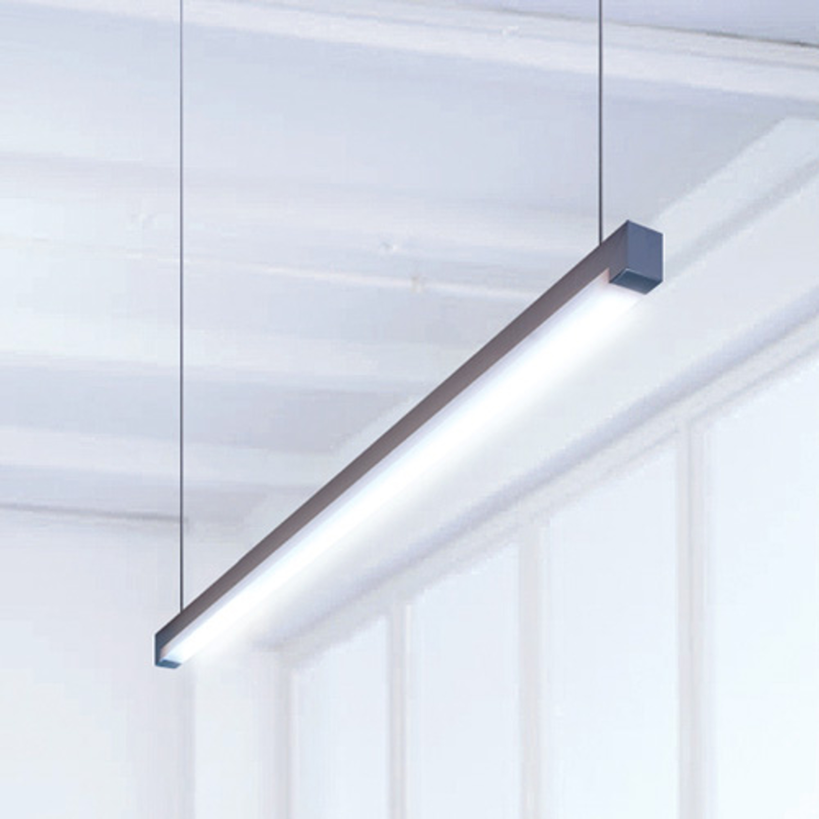 Lampa wisząca LED Travis-P2 uniwers. biel 118,2 cm