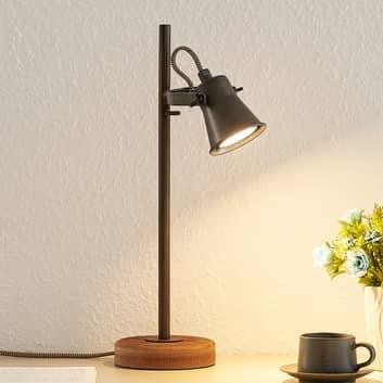 Lindby Grandesa lampe à poser avec pied en bois