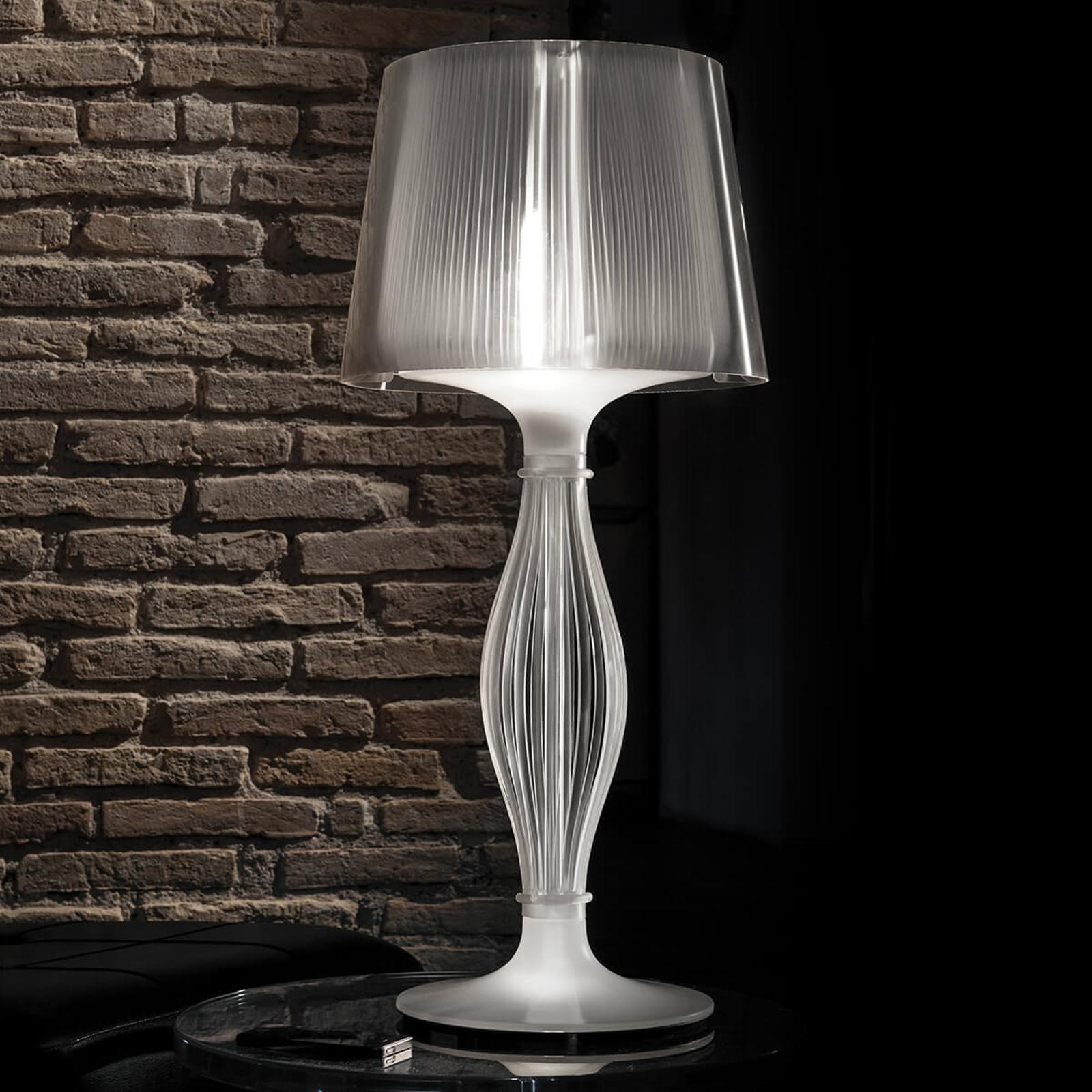 Slamp Liza - designer tafellamp, tinkleuren