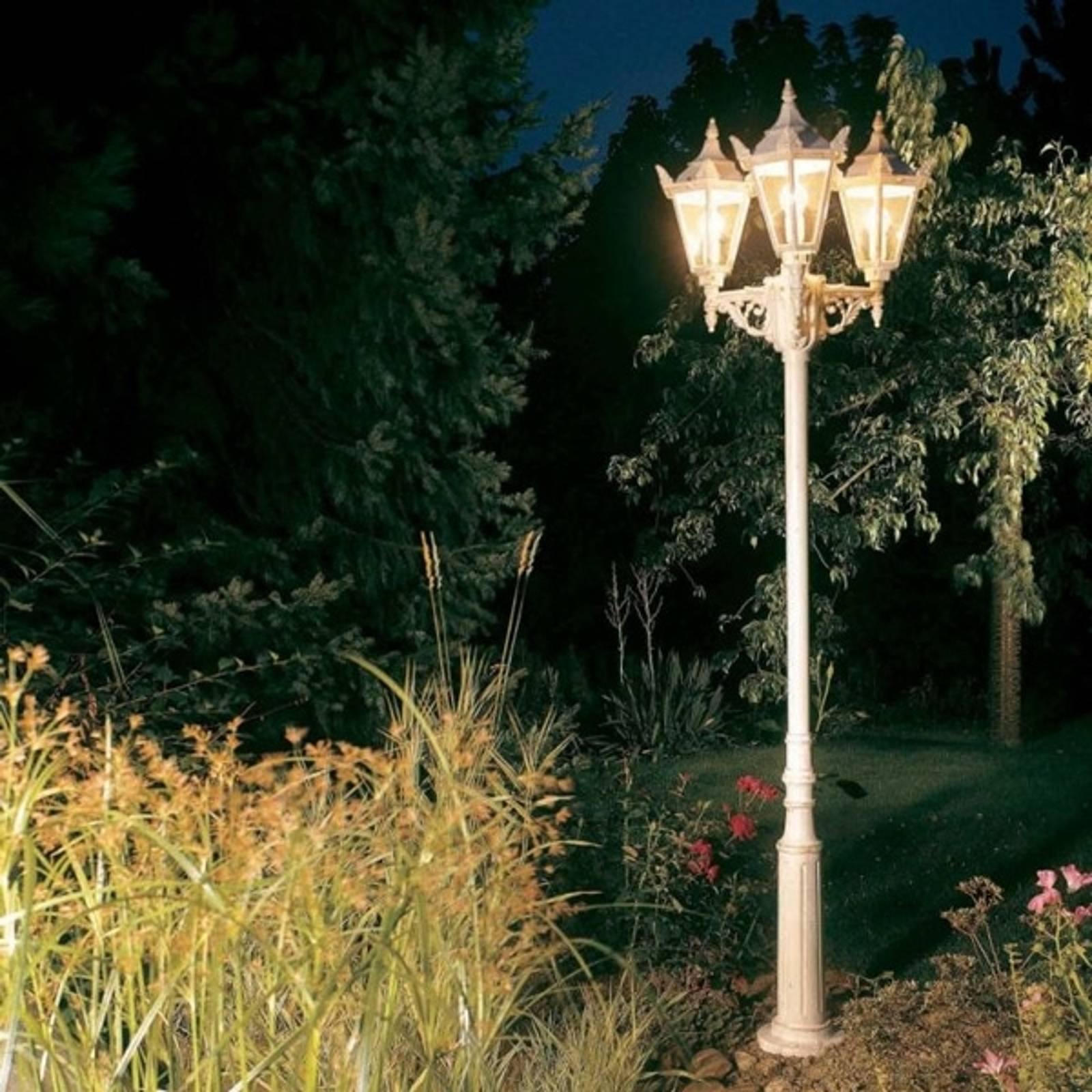 Lampadaire style rustique 756 blanc à 3 lampes