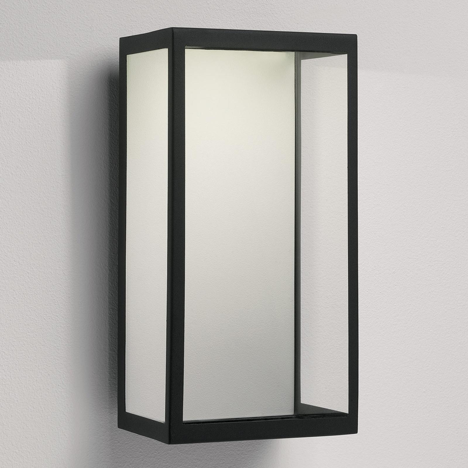 LED utendørs vegglampe Puzzle i svart