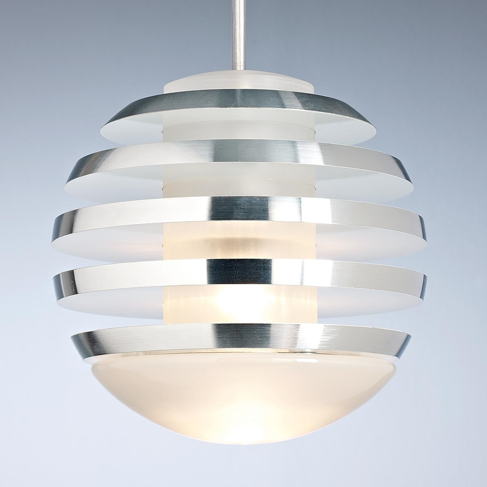 Suspension blanche LED BULO