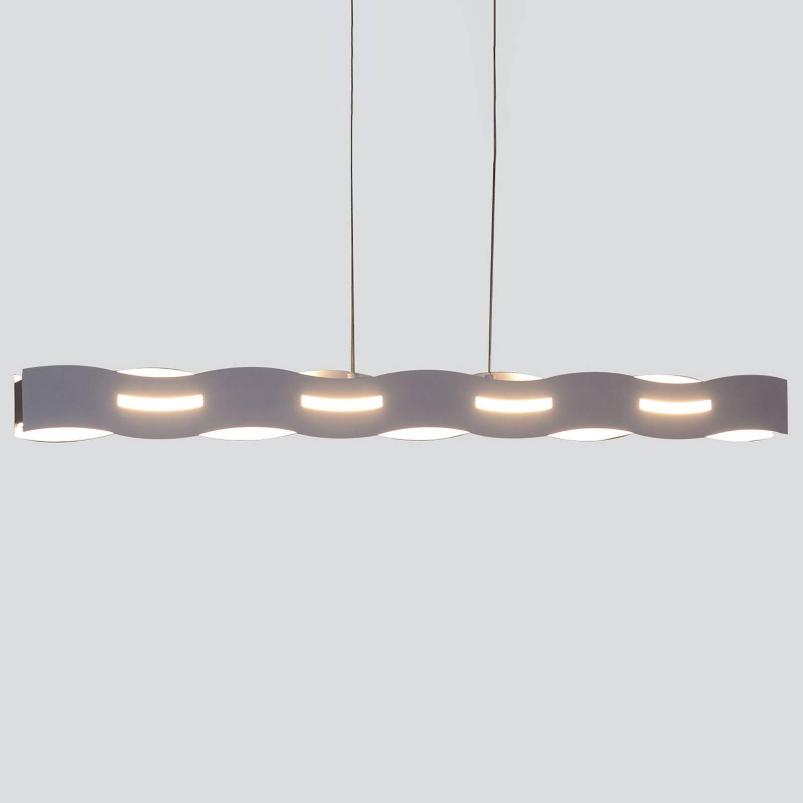 LED hanglamp Wave nikkel