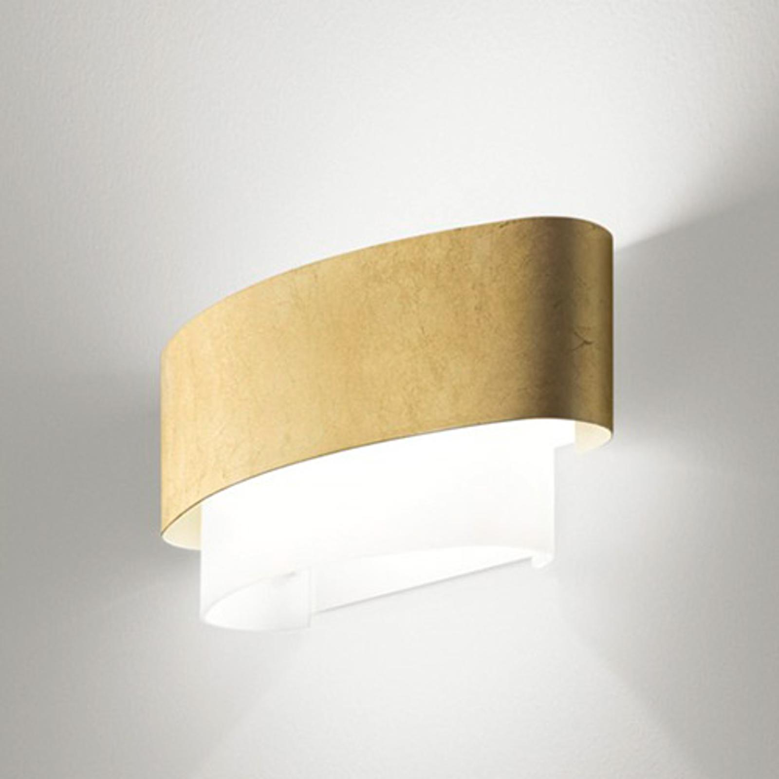 Wygląd złotych liści - lampa ścienna Matrioska