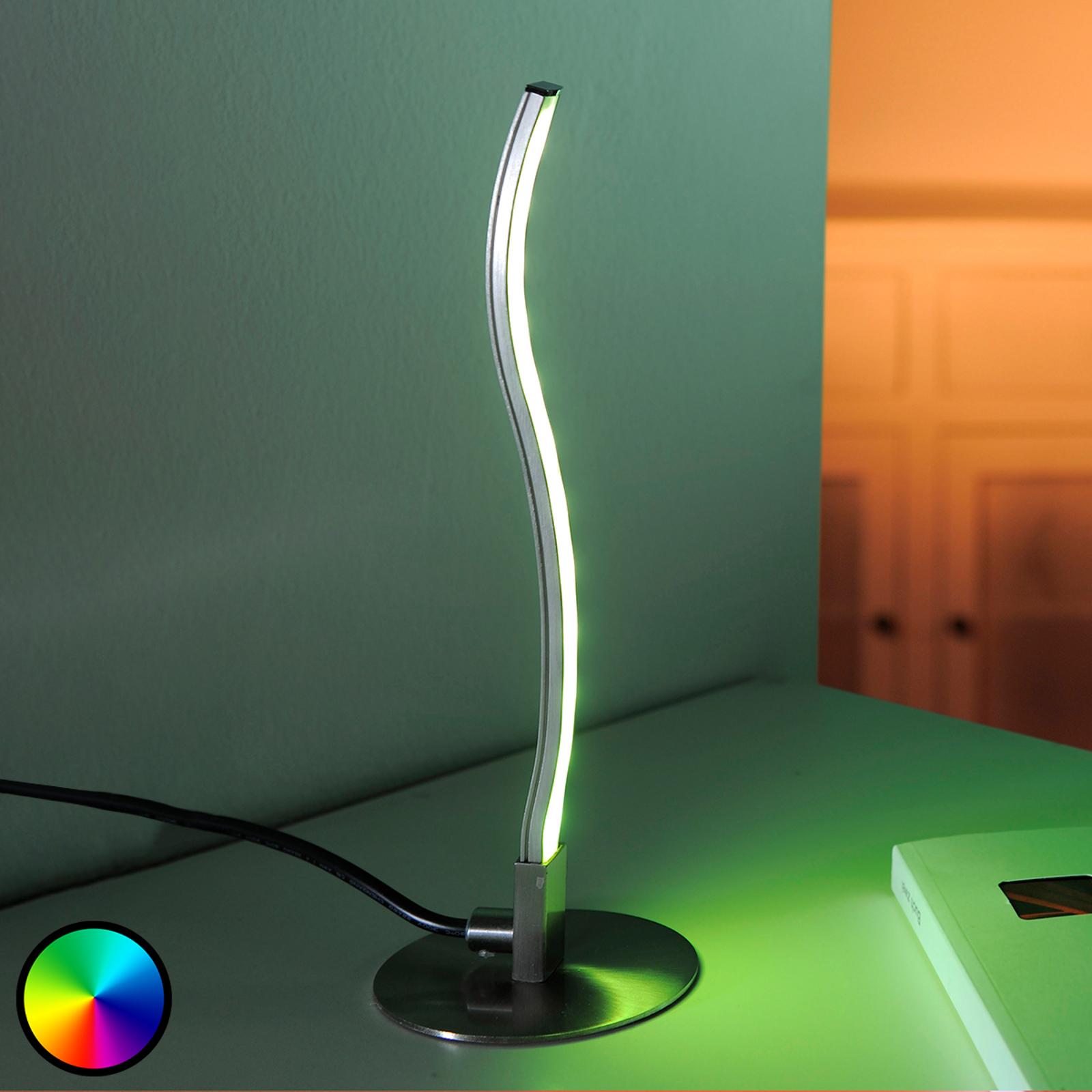 LED-bordlampe Tamino med fjernkontroll