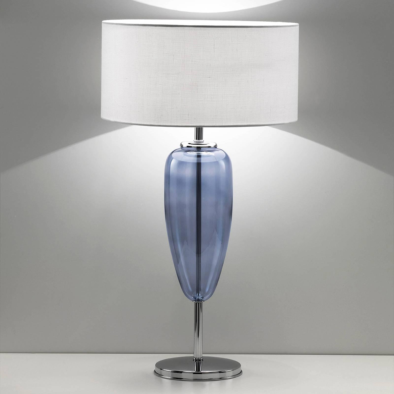 Bilde av Bordlampe Show Ogiva 82 Cm Glasselement Blå