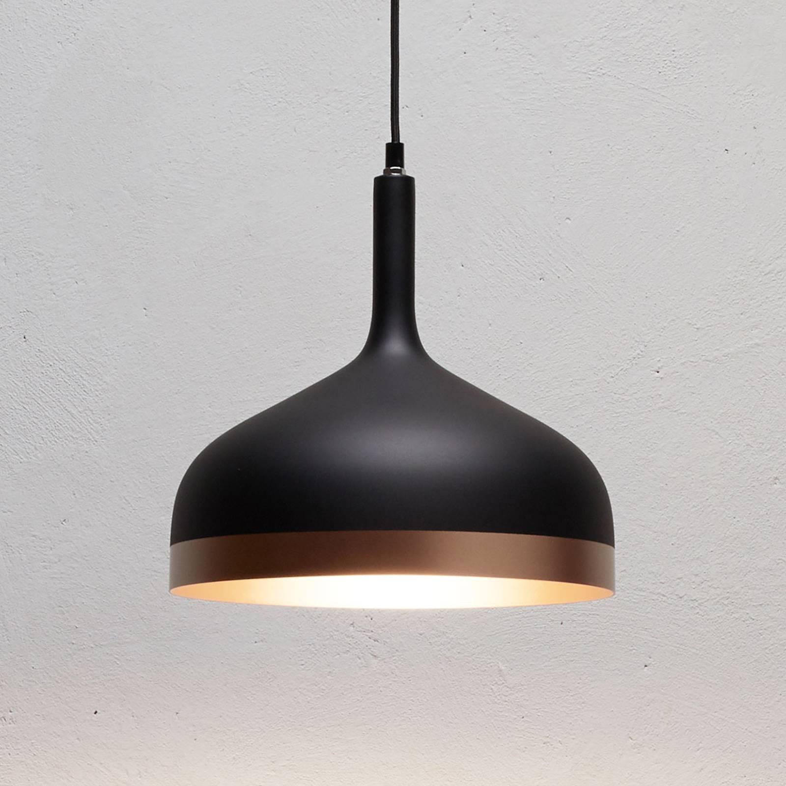 Nowoczesna lampa wisząca Embla w kolorze czarnym