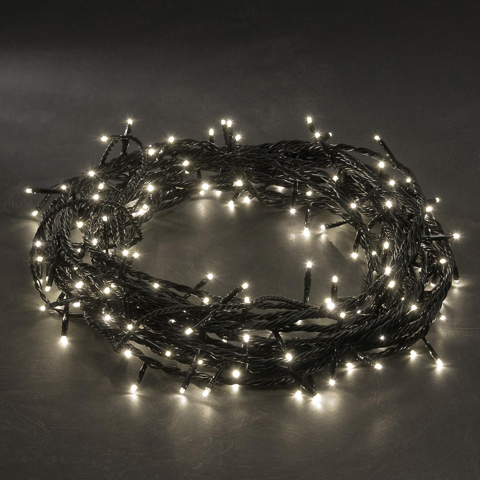 10,5 m langt mikrolyskjede med 80 varmhvite LED-er