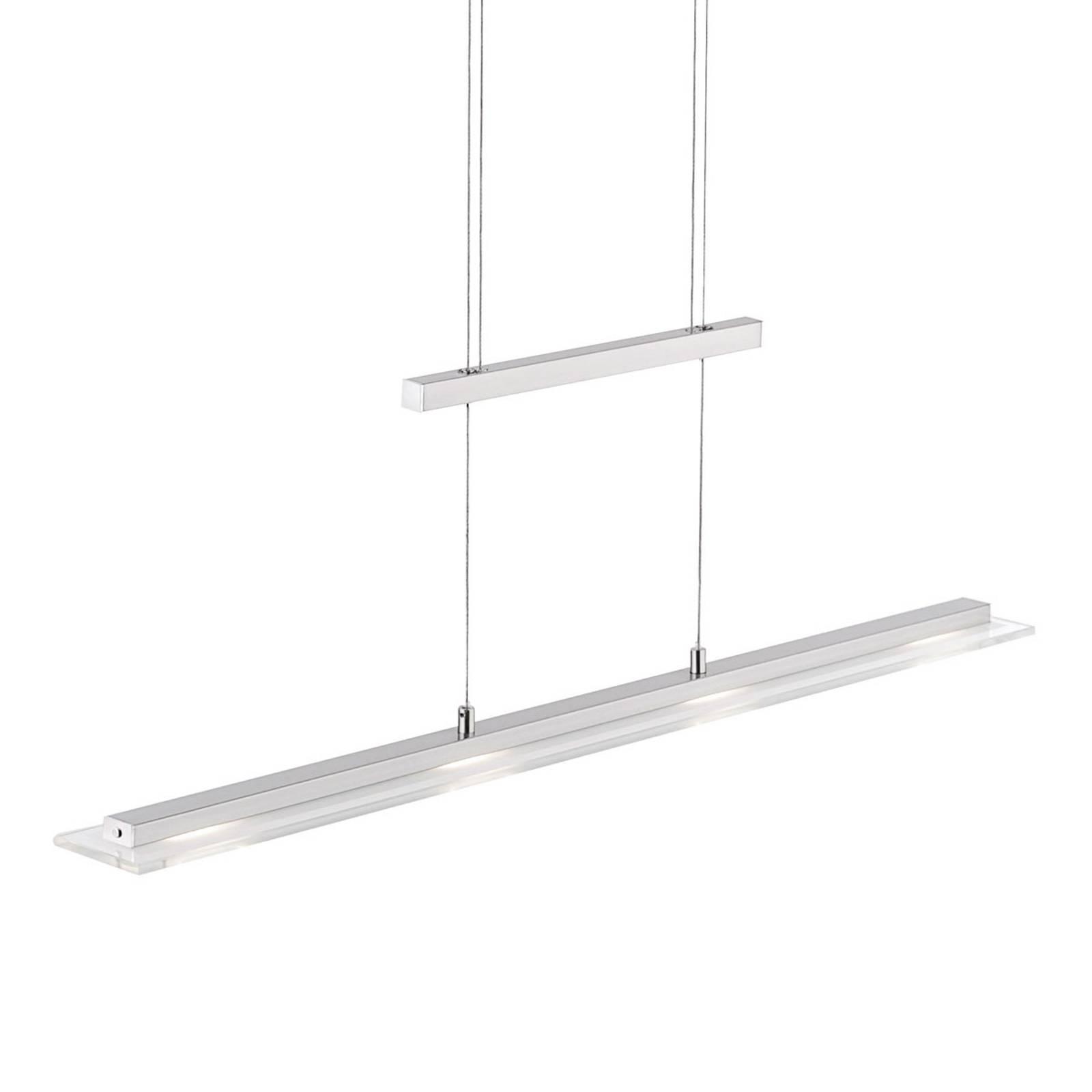 LED hanglamp Tenso met dimmer, nikkel 64cm