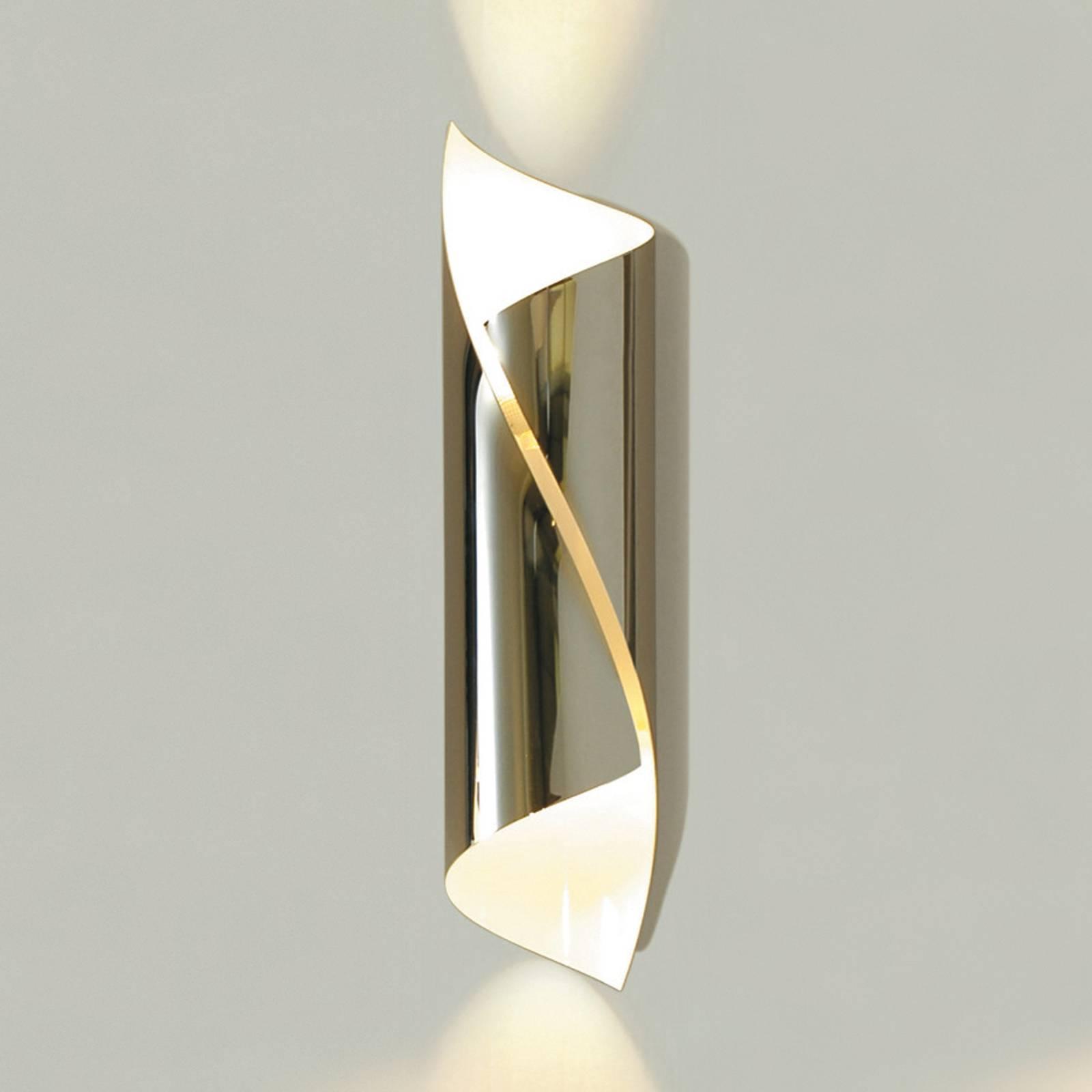 Chroomglanzende wandlamp Hué, 37 cm hoog