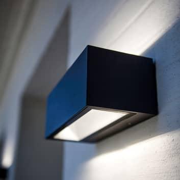 Gemini utendørs LED-vegglampe matt svart 22cm