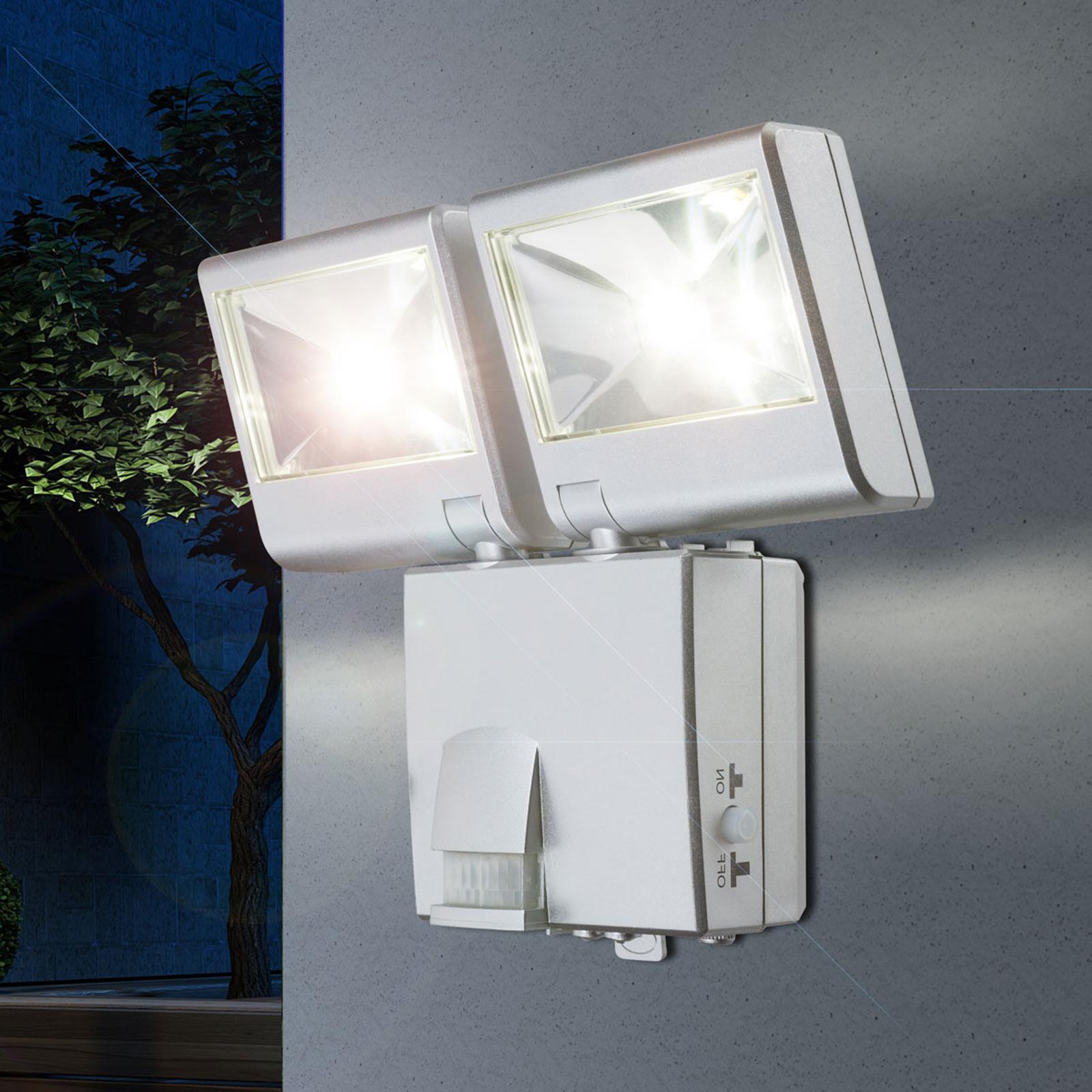 LED-Außenwandleuchte 3724S Sensor Batteriebetrieb