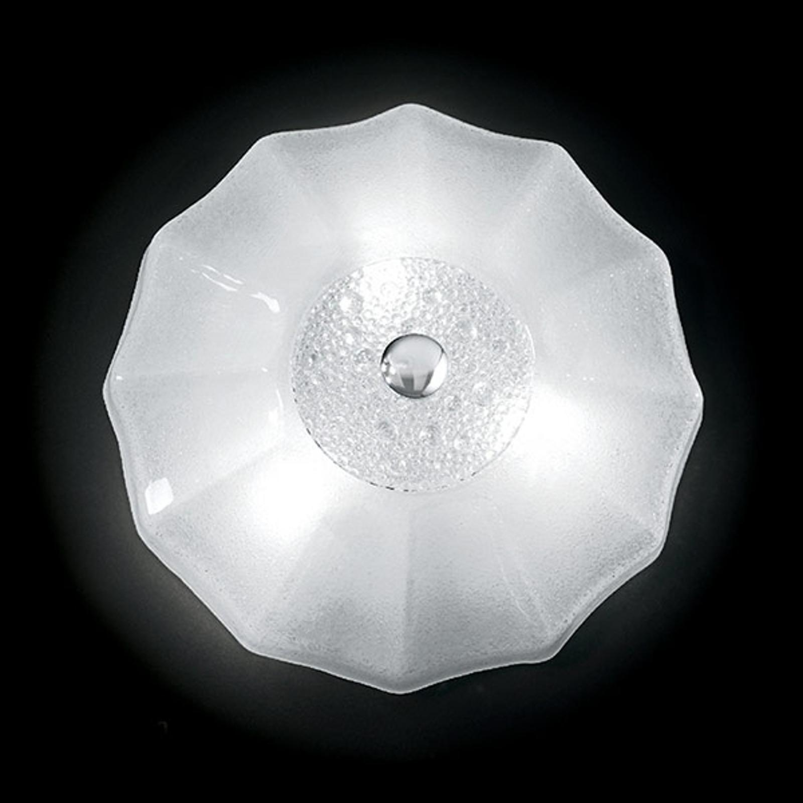 Witte plafondlamp Monja, 50 cm