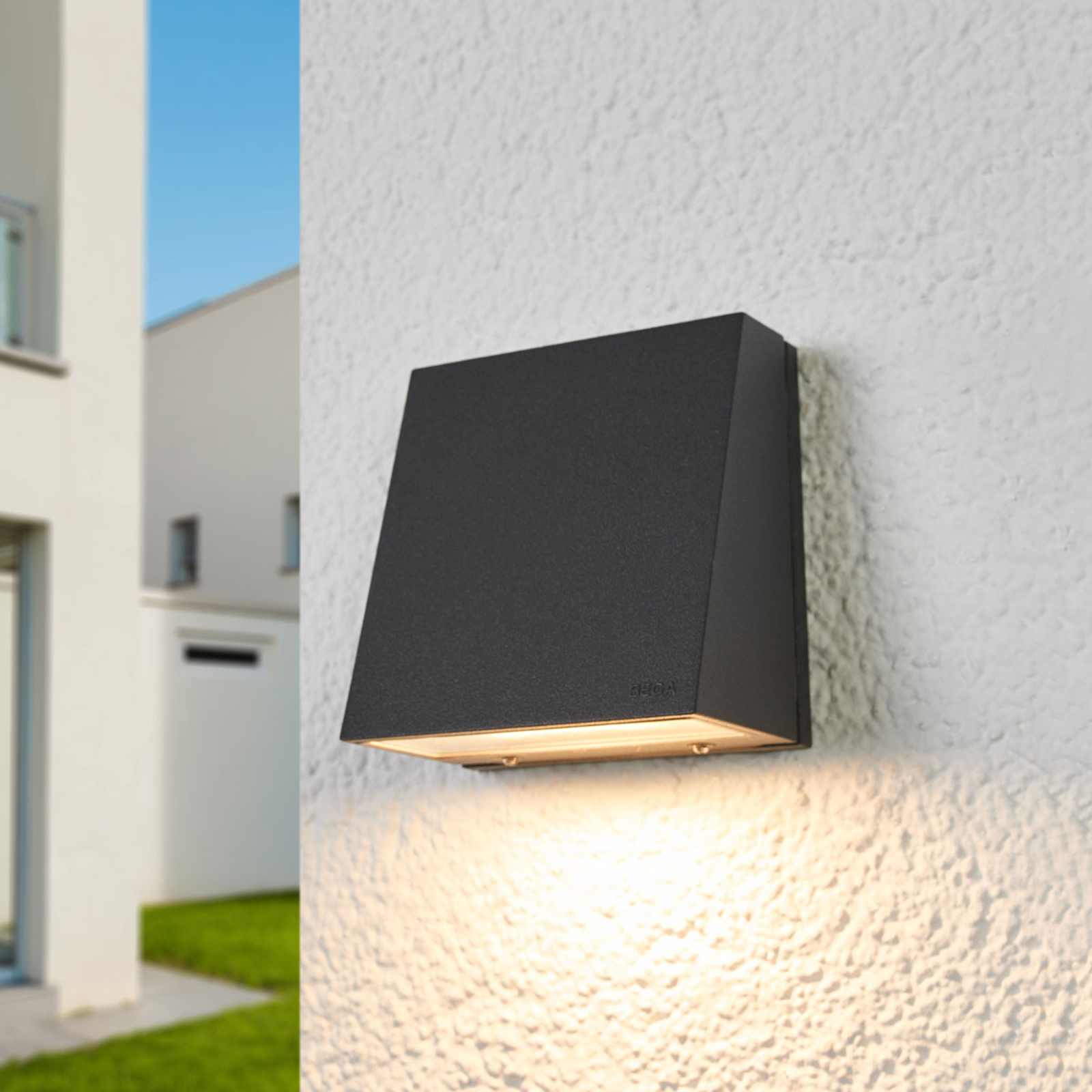 BEGA 22215K3 outdoor wall lamp graphite 3,000K 9cm_1566016_1