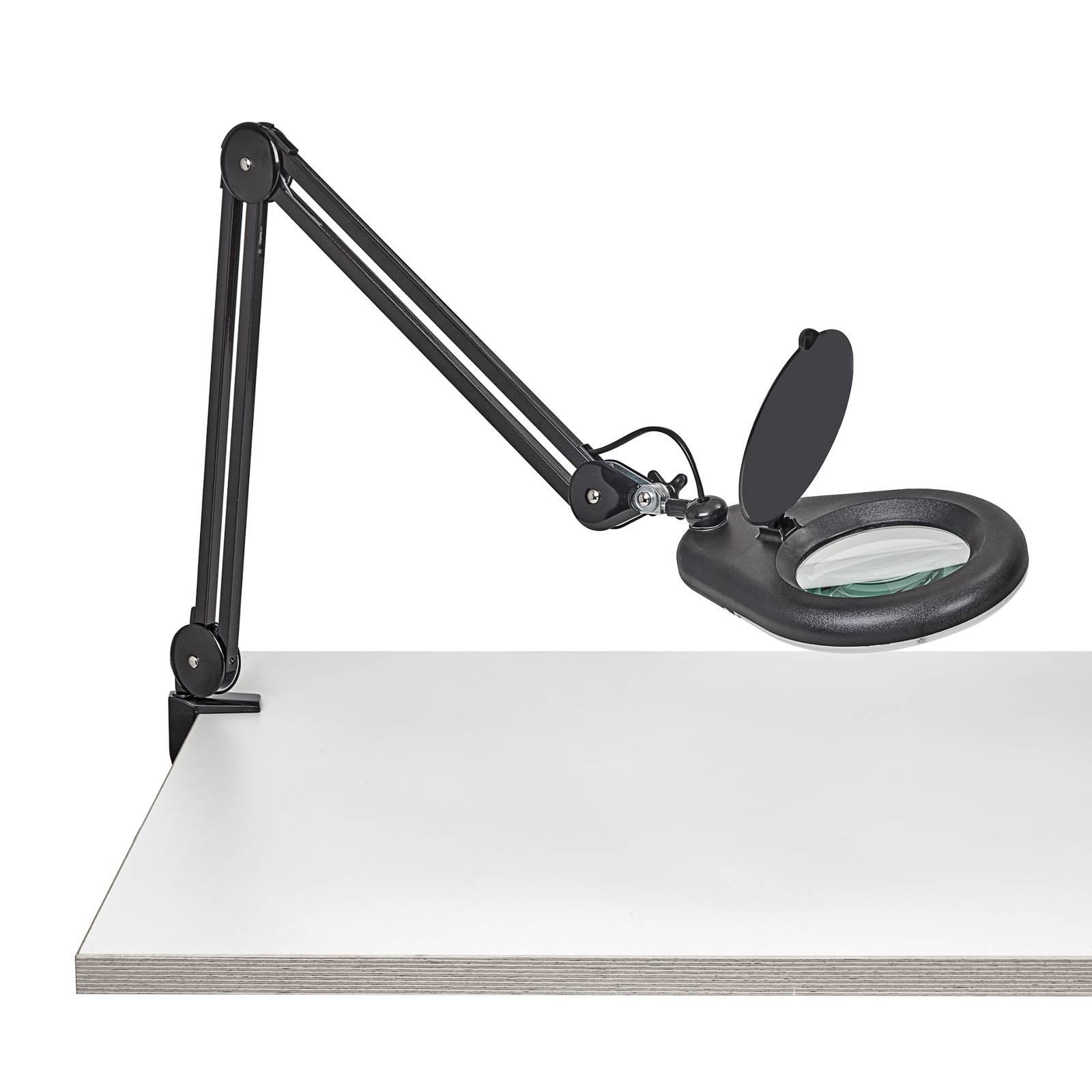 LED-Lupenleuchte MAULviso mit Klemme, schwarz