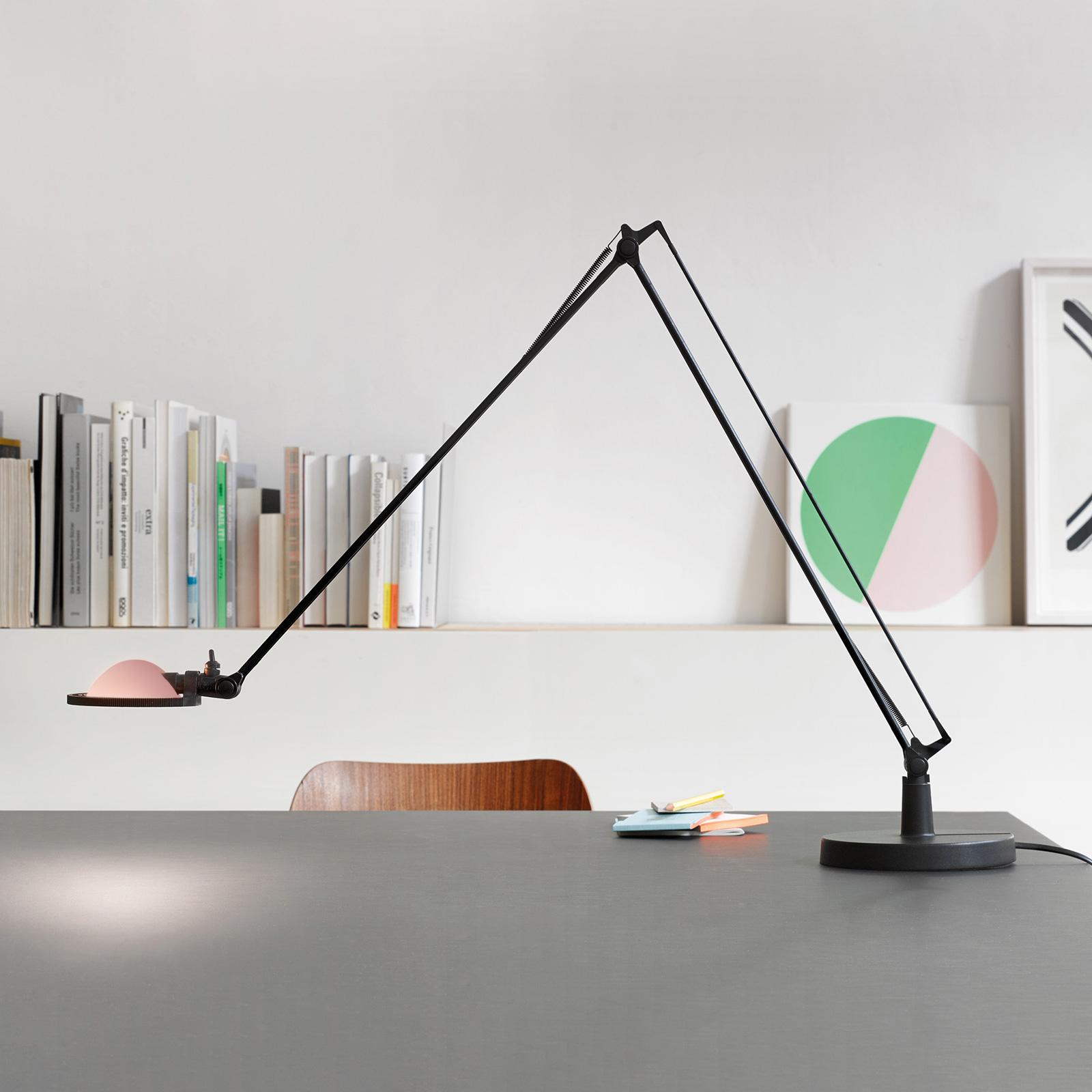 Luceplan Berenice tafellamp 15cm, zwart-roze