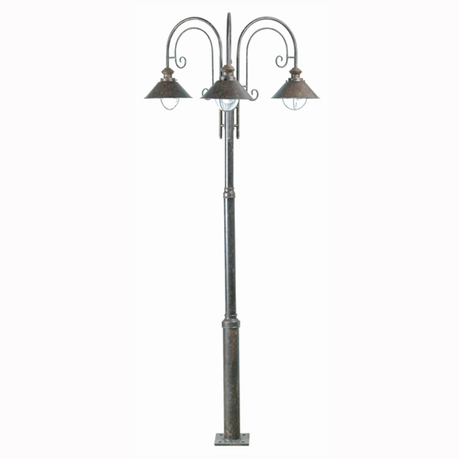 Nautica post light with three bulbs_3505166_1